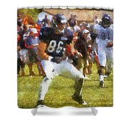 Chicago Bears Te Zach Miller Training Camp 2014 Pa 02 Shower Curtain