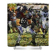 Chicago Bears Te Zach Miller Training Camp 2014 Pa 04 Shower Curtain