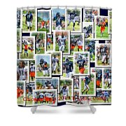 Chicago Bears Training Camp 2014 Collage Pa 01 Shower Curtain