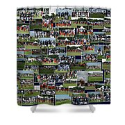 Chicago Bears Training Camp 2014 Collage The Players Shower Curtain
