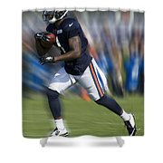 Chicago Bears Training Camp 2014 Moving The Ball 03 Shower Curtain