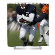Chicago Bears Training Camp 2014 Moving The Ball 05 Shower Curtain
