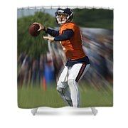 Chicago Bears Training Camp 2014 Moving The Ball 06 Shower Curtain