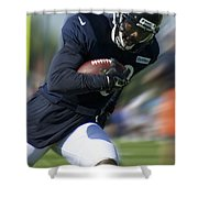 Chicago Bears Training Camp 2014 Moving The Ball 09 Shower Curtain
