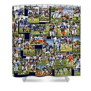 Chicago Bears Training Camp 2014 Pa 02 Shower Curtain