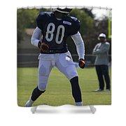 Chicago Bears Wr Armanti Edwards Training Camp 2014 03 Shower Curtain