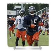 Chicago Bears Wr Brandon Marshall Training Camp 2014 06 Shower Curtain