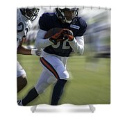 Chicago Bears Wr Chris Williams Moving The Ball Training Camp 2014 Shower Curtain