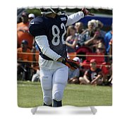 Chicago Bears Wr Chris Williams Training Camp 2014 04 Shower Curtain