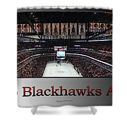 Chicago Blackhawks At Home Panorama Sb Shower Curtain