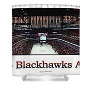 Chicago Blackhawks At Home Panorama White Shower Curtain