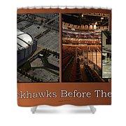 Chicago Blackhawks Before The Gates Open Interior 2 Panel Tan 01 Shower Curtain