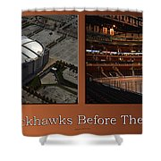Chicago Blackhawks Before The Gates Open Interior 2 Panel Tan Shower Curtain