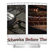Chicago Blackhawks Before The Gates Open Interior 2 Panel White 01 Shower Curtain