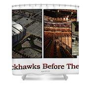 Chicago Blackhawks Before The Gates Open Interior 2 Panel White 02 Shower Curtain