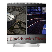 Chicago Blackhawks Please Stand 2 Panel Sb Shower Curtain