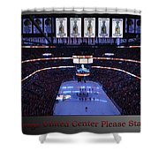 Chicago Blackhawks Please Stand Up With Red Text Sb Shower Curtain