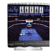 Chicago Blackhawks Please Stand Up With White Text Sb Shower Curtain