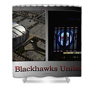 Chicago Blackhawks United Center 2 Panel Sb Shower Curtain