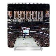 Chicago Blackhawks United Center Panorama 03 Shower Curtain