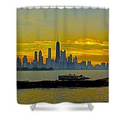 Chicago Breakwater Shower Curtain