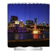 Chicago Buckingham Fountain Shower Curtain