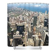 Chicago Buildings Shower Curtain
