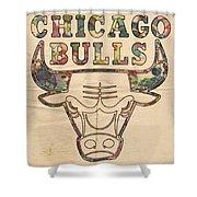 Chicago Bulls Logo Vintage Shower Curtain