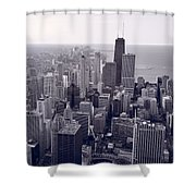 Chicago Bw Shower Curtain