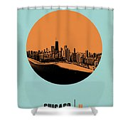 Chicago Circle Poster 2 Shower Curtain