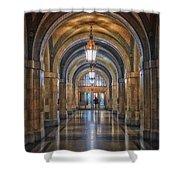 Chicago City Hall 1st Floor Hallway Area Hdr 01 Shower Curtain