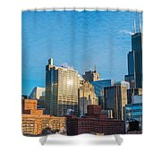 Chicago Cityscape During The Day Shower Curtain