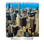 Chicago Cityscape Shower Curtain
