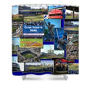 Chicago Cubs Collage Shower Curtain
