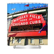 Chicago Cubs Marquee Sign Shower Curtain