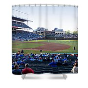 Chicago Cubs Pregame Time Panorama Shower Curtain