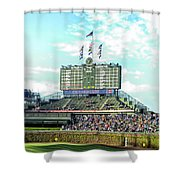 Chicago Cubs Scoreboard 01 Shower Curtain