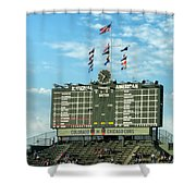 Chicago Cubs Scoreboard 02 Shower Curtain