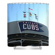 Chicago Cubs Signage Shower Curtain