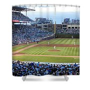 Chicago Cubs Up To Bat Shower Curtain