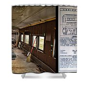 Chicago Eastern Il Rr Business Car Restoration With Blue Print Shower Curtain