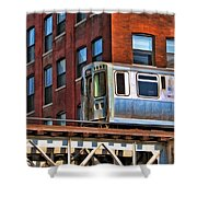 Chicago El And Warehouse Shower Curtain