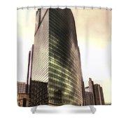 Chicago Facade 333 W Wacker Hdr Shower Curtain