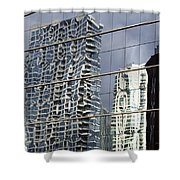 Chicago Facade Reflections Shower Curtain