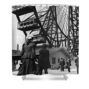 Chicago Ferris Wheel, C1893 Shower Curtain