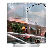 Chicago Firemen At Work Shower Curtain
