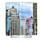 Chicago - Flags Along Michigan Avenue Shower Curtain