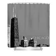 Chicago Hancock Building - Pewter Shower Curtain