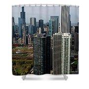 Chicago Harbor Point Shower Curtain