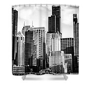 Chicago High Resolution Picture In Black And White Shower Curtain by Paul Velgos